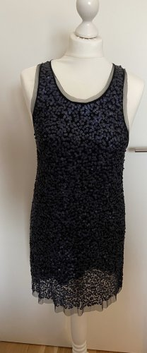 Alice + Olivia Sequin Dress dark blue-slate-gray