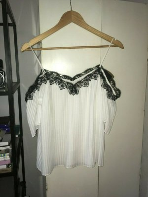 Alice + Olivia Camisa de mujer blanco-negro