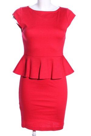 Alice + Olivia Vestido peplum rojo estilo «business»
