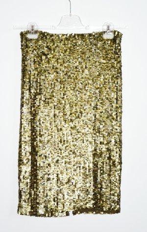 Alice + Olivia Pencil Skirt bronze-colored-green grey mixture fibre