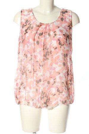 Alice Rinaldi Top koszulowy różowy-kremowy Na całej powierzchni