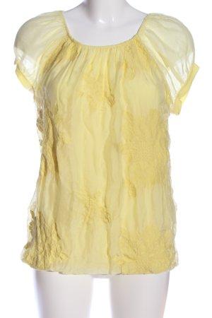 Alice Rinaldi Bluzka z krótkim rękawem bladożółty W stylu casual