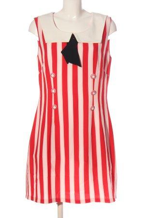Alice's Pig Mini Abito rosso-crema motivo a righe elegante