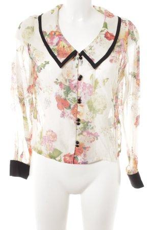 Alice's Pig Blusa transparente estampado floral look vintage