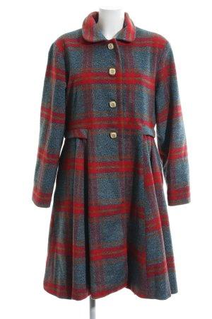 Alice's Pig Manteau en laine motif à carreaux style décontracté