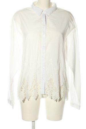 Alice & You Blouse à manches longues blanc cassé-blanc style classique