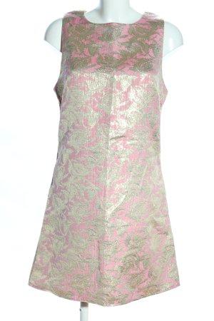 Alice & You Robe mi-longue rose-doré imprimé allover style extravagant