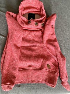 Alife & Kickin Capuchon sweater donkergrijs-magenta