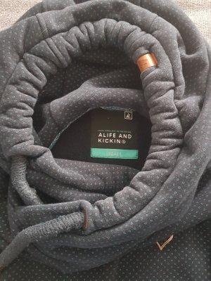 Alife & Kickin Sweter z kapturem niebieski