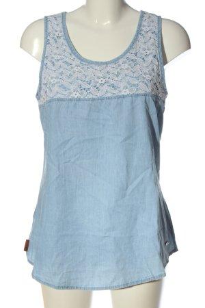 alife and kickin Długa bluzka niebieski-biały W stylu casual