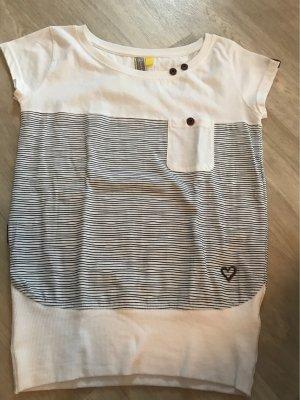 Alife & Kickin T-shirt wit-donkerblauw