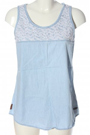 Alife & Kickin Blusa senza maniche blu-bianco motivo floreale stile casual