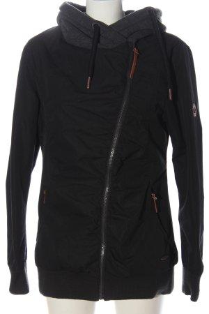 Alife & Kickin Giacca con cappuccio nero-grigio chiaro puntinato stile casual
