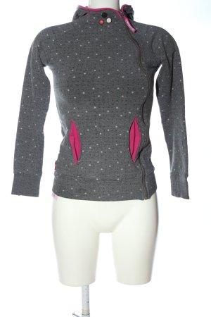 Alife & Kickin Hooded Sweatshirt light grey allover print casual look