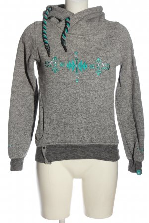 Alife & Kickin Hooded Sweatshirt light grey-turquoise casual look