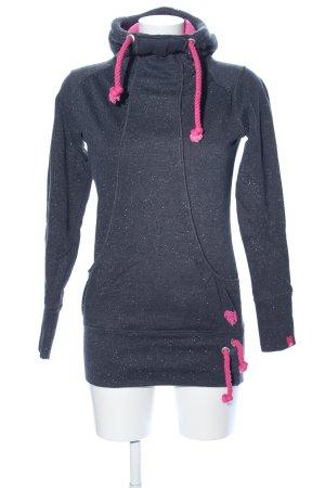 Alife & Kickin Sweatshirt met capuchon lichtgrijs gestippeld casual uitstraling