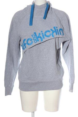 Alife & Kickin Hooded Sweatshirt light grey-blue flecked casual look