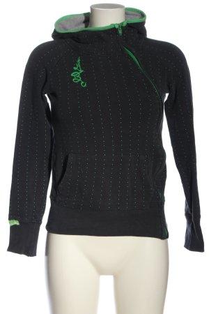 Alife & Kickin Sweatjacke schwarz-grün Punktemuster Casual-Look