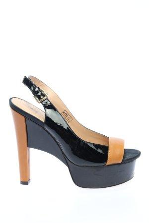 Alisha Tacco alto nero-arancione chiaro elegante