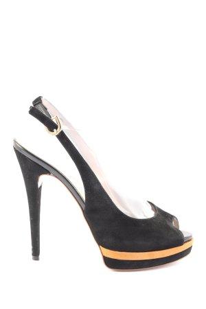 Alisha Sandalo con cinturino e tacco alto nero stile professionale