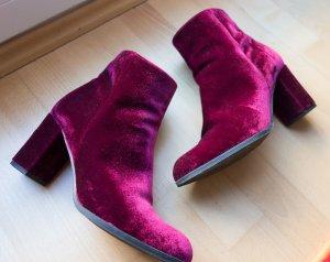 Alisha Heel Boots dark red