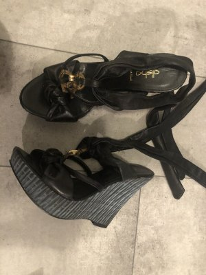Alisha Platform Sandals black-dark blue