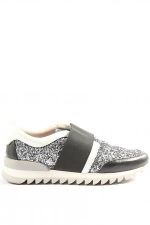 Alisha Zapatillas deslizantes negro-color plata look casual