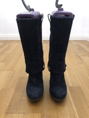 Alisha Botas estilo militar azul oscuro-marrón