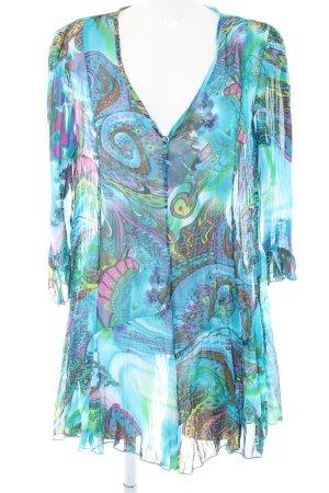 Lange blouse abstract patroon extravagante stijl