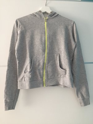 Alive Hoody light grey-neon yellow