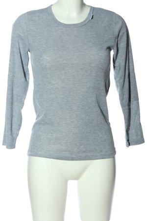 Alive Manica lunga grigio chiaro puntinato stile casual