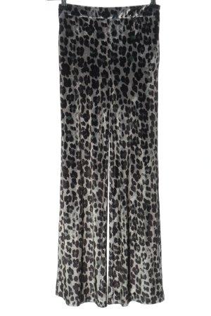 ALIX Spodnie garniturowe jasnoszary-czarny Na całej powierzchni W stylu casual