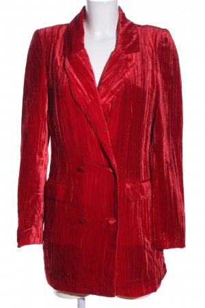ALIX Long Blazer red wet-look