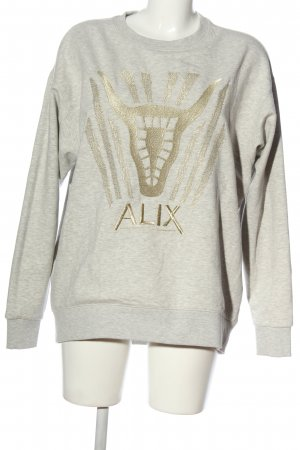 ALIX Sweat Shirt light grey flecked casual look