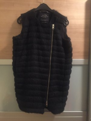 All Saints Bontgilet zwart Alpacawol