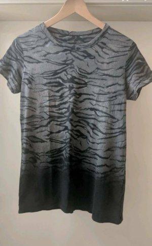 All Saints Animal Print Shirt Farbverlauf Grau S Cut Outs