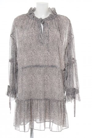 All Saints Chiffon Dress black-light grey animal pattern casual look