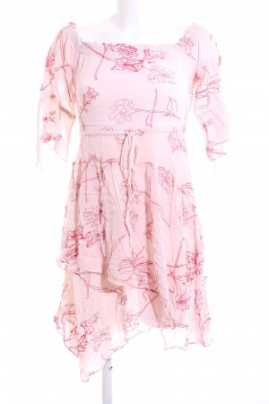 All Saints Chiffon Dress pink allover print casual look