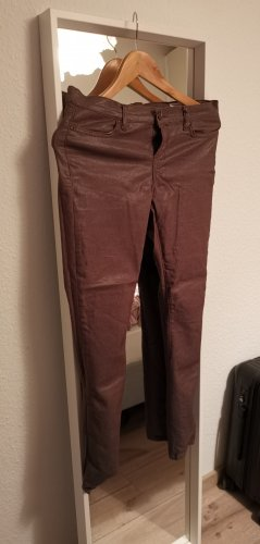 All Saints Skórzane spodnie khaki