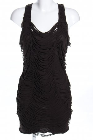 All Saints Vestido con flecos negro elegante