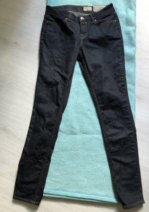 All Saints Jeans a sigaretta blu scuro-antracite
