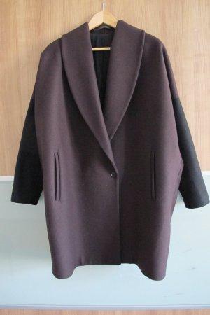 All Saints Oversized jas zwart-braambesrood