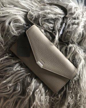 All Saints Mini sac gris brun cuir
