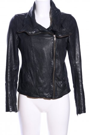 All Saints Lederjacke schwarz Casual-Look
