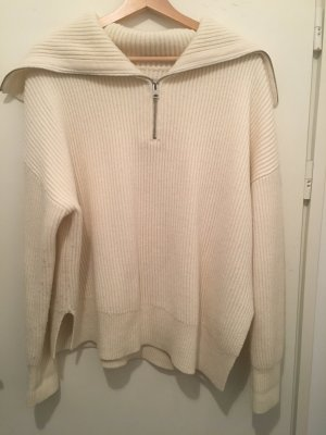 All Saints Oversized Sweater natural white alpaca wool