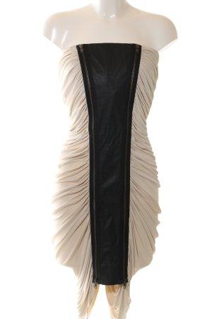 All Saints schulterfreies Kleid wollweiß-schwarz Elegant