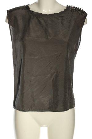 All Saints Top in seta marrone stile casual