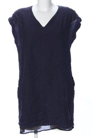 All Saints Robe t-shirt bleu motif rayé style décontracté
