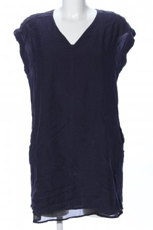 All Saints T-shirt jurk blauw gestreept patroon casual uitstraling