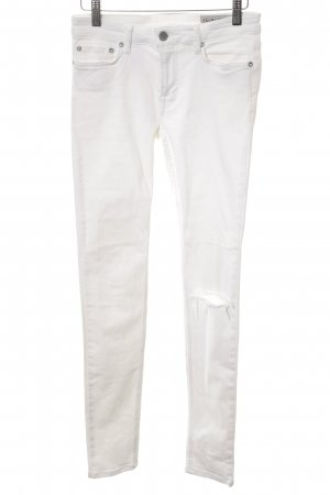 All Saints Skinny Jeans weiß Casual-Look